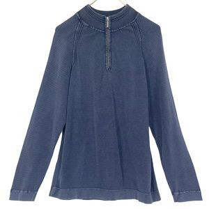 RELAX Tommy Bahama Navy Washed Cotton Pullover